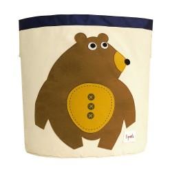 Cesto portatutto 100% cotone fantasia orso