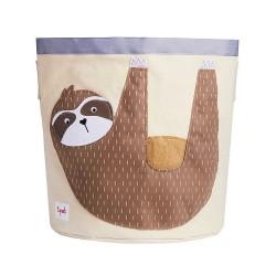Cesto portatutto 100% cotone fantasia bradipo