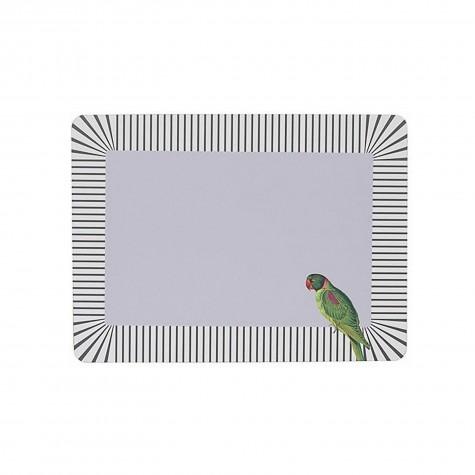 Tovaglietta americana rigida con fantasia pappagallo
