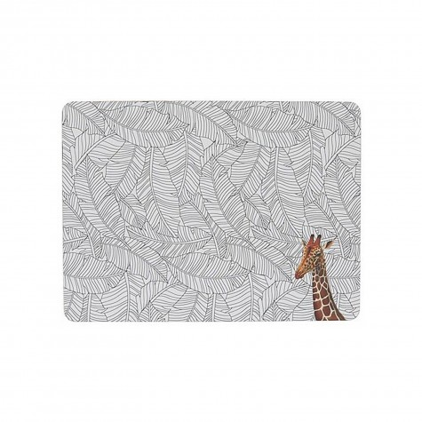 Tovaglietta americana rigida con fantasia giraffa