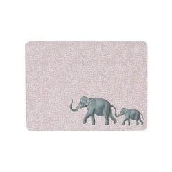 Tovaglietta americana rigida con fantasia elefanti