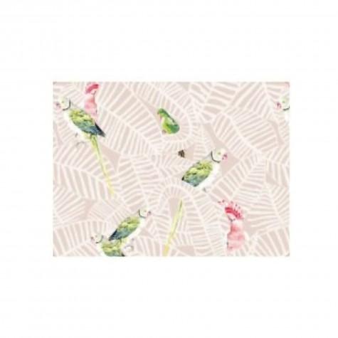 Tovaglietta americana rigida con fantasia pappagalli