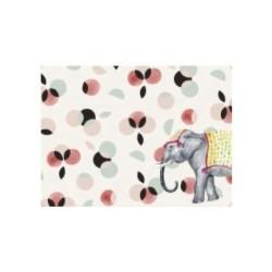 Tovaglietta americana rigida con fantasia elefante del circo