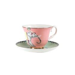 Servizio da tè in porcellana con fantasia elefante