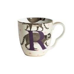 Tazzina mug in porcellana con fantasia procione