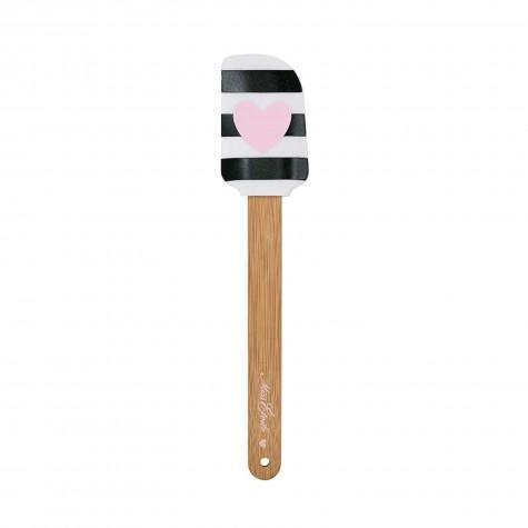 Spatola per dolci in silicone rosa con cuoricino