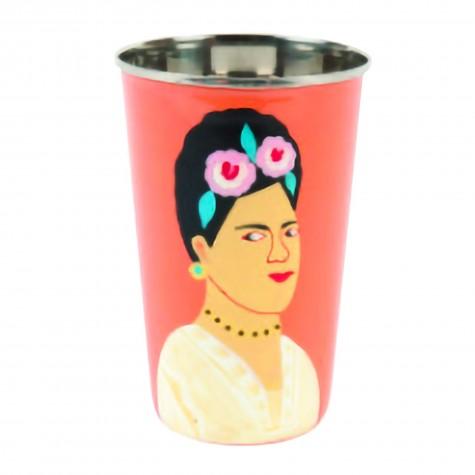Bicchierone giallo in acciaio Frida Kahlo
