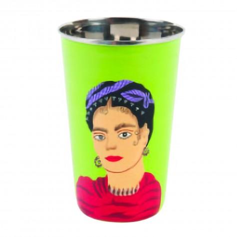 Bicchierone rosso in acciaio Frida Kahlo