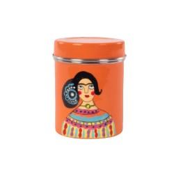 Barattolo rosso in acciaio Frida Kahlo