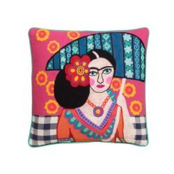 Cuscino Frida Kahlo con l'ombrello