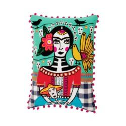 Cuscino Frida Kahlo fantasia festa messicana