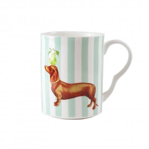 Mug in porcellana a righe con...