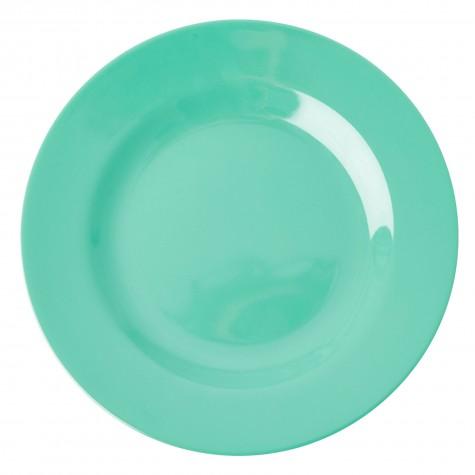 Piatto piano in melamina verde smeraldo