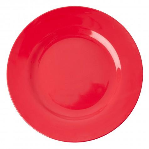 Piatto piano in melamina rosso acceso