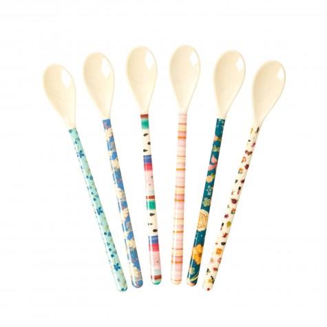 Set di cucchiaini lunghi multi fantasia