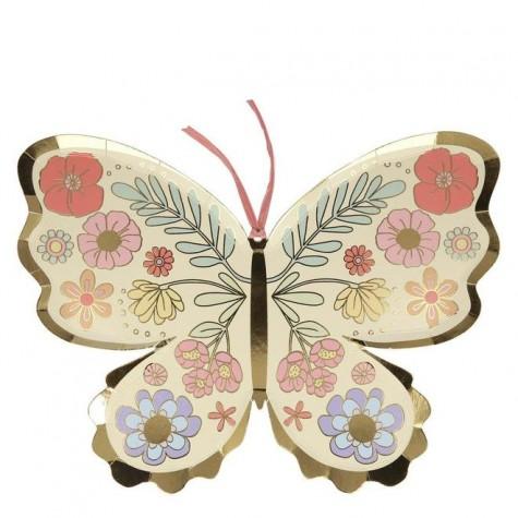 Piatti a forma di farfalla floreale