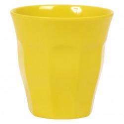 Bicchiere medio tinta unita - giallo