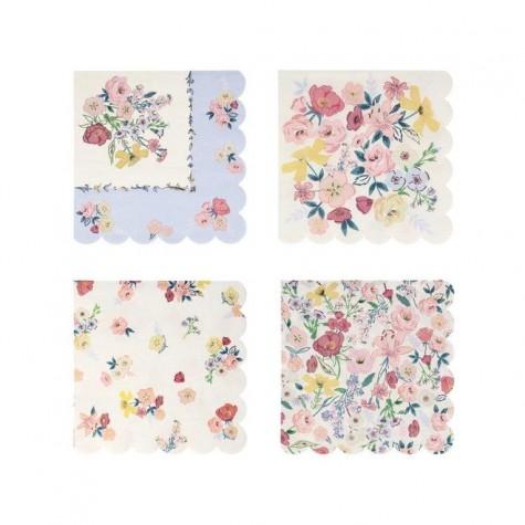 Tovaglioli di carta fantasia floreale English Garden