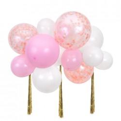 Nuvoletta di palloncini rosa