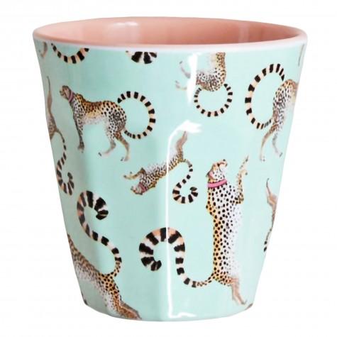 Bicchiere in melamina fantasia ghepardo