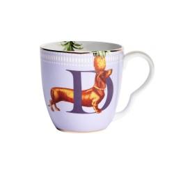 Tazza mug in porcellana con fantasia bassotto