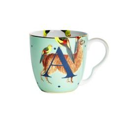 Tazza mug in porcellana con fantasia alpaca