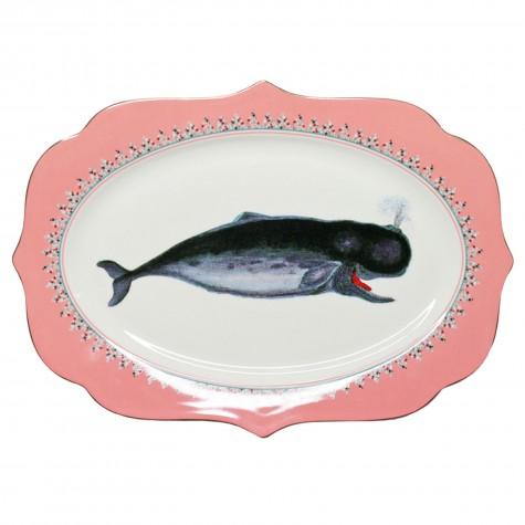 Piatto da portata in porcellana fantasia balenottera