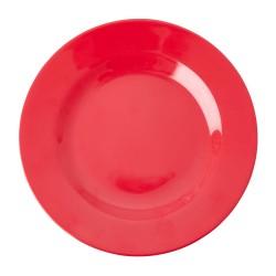 Piatto frutta in melamina tinta unita rosso acceso