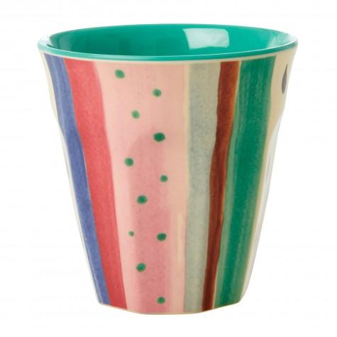 Bicchiere in melamina fantasia a righe