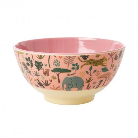 Tazza da colazione rosa fantasia giungla