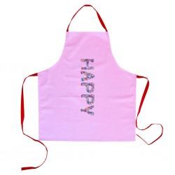 Grembiulino rosa Happy