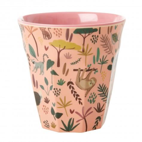 Bicchiere in melamina fantasia giungla