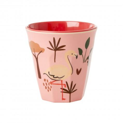 Bicchiere bimba Flamingo in melamina