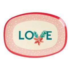Piatto ovale natalizio LOVE