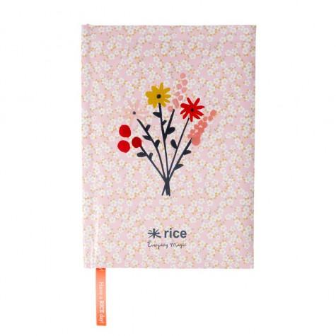 Quaderno A5 rosa fantasia floreale