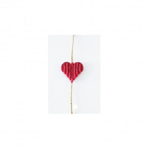 Braccialetto cuore rosso fuoco