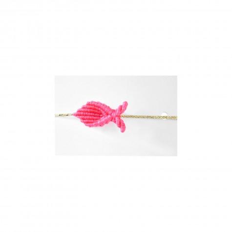 Braccialetto pesciolino corallo fluo