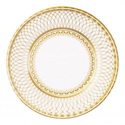 Piatti di carta con decorazioni geometriche