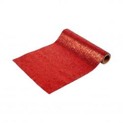 Runner da tavola rosso glitter