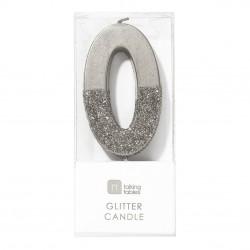 Candelina argento glitterata 0