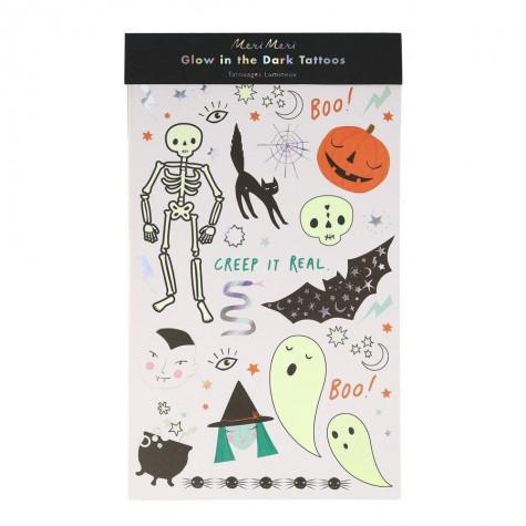 Tatuaggi di Halloween luminosi al buio