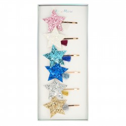 Fermacapelli con stella glitter
