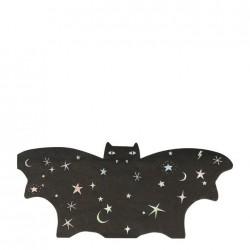 Tovaglioli di Halloween a forma di pipistrello