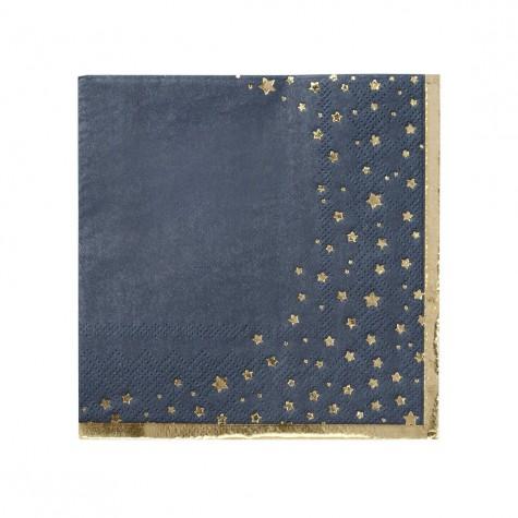 Tovaglioli di carta fantasia stelline dorate