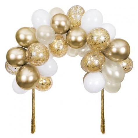 Arco di palloncini dorati
