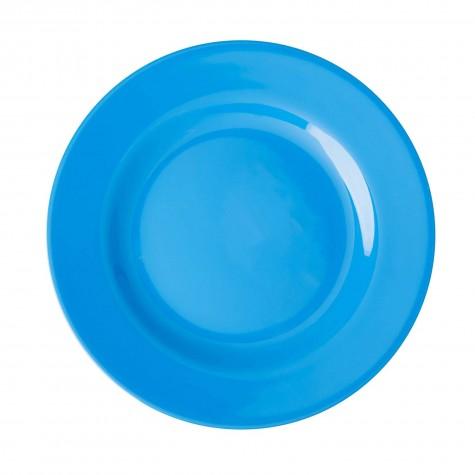 Piatto frutta tinta unita azzurro cielo
