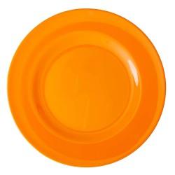Piatto piano in melamina arancione mandarino