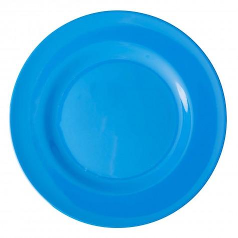 Piatto piano in melamina azzurro cielo