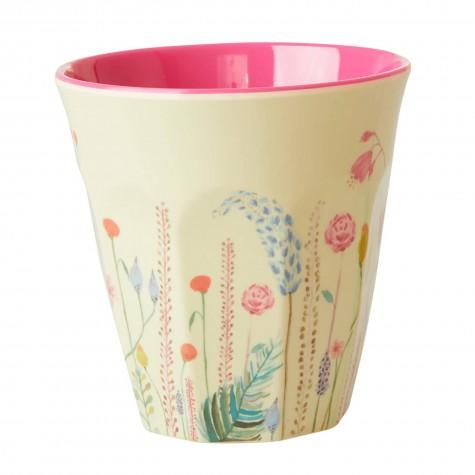 Bicchiere in melamina fantasia floreale estiva