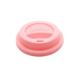 Coperchio rosa per bicchieri